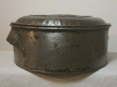 Vintage Willow Cake Tin with Handles & Lid