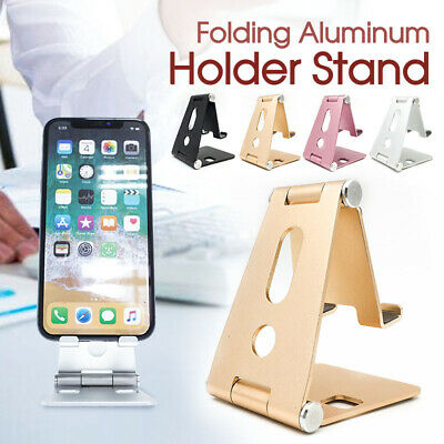 Universal Folding Aluminum Tablet Mount Holder Stand For iPad iPhone Samsung New