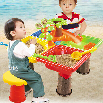 Childrens Kids Toddler Sand and Water Play Table Activity Sandpit Summer Beach