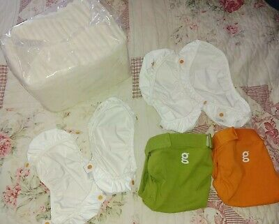Baby gDiapers liners disposable inserts small New lot guppy green great orange