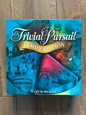 TRIVIAL PURSUIT FAMILY EDITION 2001 PARKER HASBRO GAMES GAME ( Complete )