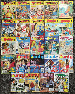 24 x Bunty Picture Story Library For Girls Vintage Comics ~ 1980 to 1996