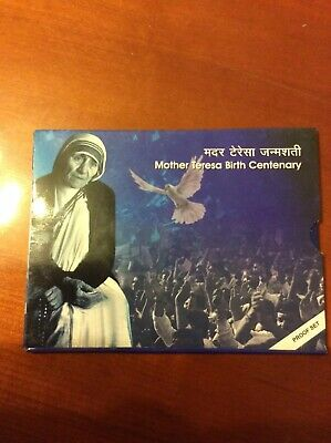 Mother Teresa Birth Centenary Proof Set Two Uncirculated Coins - 100 & 5 Rupees