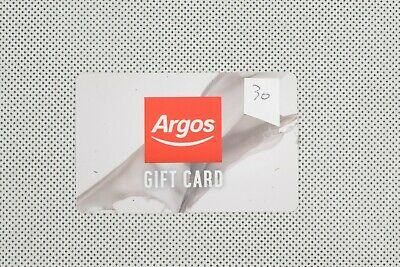 Argos Gift Card Voucher With Total Value Credit £30 Balance Verified