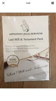 last will and testament kit DIY Will Pack