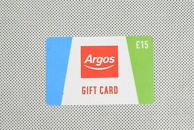 Argos Gift Card Voucher With Total Value Credit £15 Balance Verified