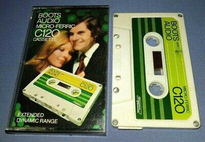 BOOTS AUDIO MICRO FERRIC C120 USED BLANK cassette tape