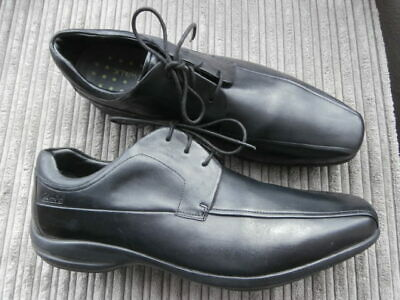 Clarks Wave Walk  Uk 11 , Black  Smart Lace Up Leather Shoes  Top Condition
