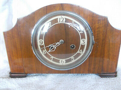 A 1930/40 MANTEL CLOCK, working but sold as spares or repair, read listing