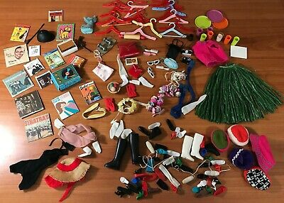 Vintage Early 60's Huge Mattel Barbie Doll Accessories Doll Pieces 1963
