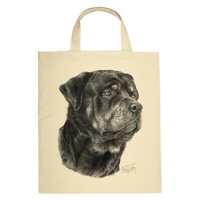Mike SibleyBull TerrierQuality Natural SHORT Handled Cotton BagGift