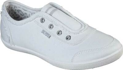 NEW Womens SKECHERS BOBS B Cute Total Catch White CANVAS Sneaker Shoes AUTHENTIC