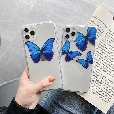 Shockproof Butterfly Soft TPU Phone Case Cover For iPhone 7 8 XS Max XR 11 Pro