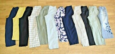 12 x Mixed 80s 90s 00s Trousers Pants Ladies Womens Bulk Wholesale Job Lot Used