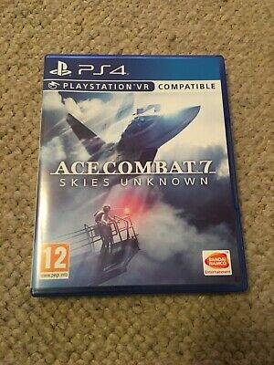 Ace Combat 7 Skies Unknown (PlayStation 4 game, 2019) PSVR Compatible