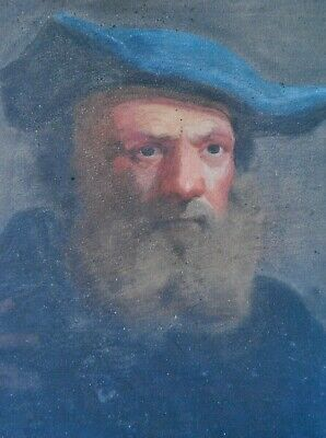 Fine Antique 18Th/19Th Century Portrait Painting Of Dutch Bearded Gentleman