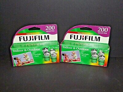 2 Packs FujiFilm 200 Speed 35mm Color Film 8 Total Rolls 24 Exp. Each 2013 (X)