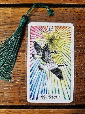 VI THE LOVERS, Bookmark, Wild Unknown Tarot Deck Card, New, Gift, Oracle, Geese