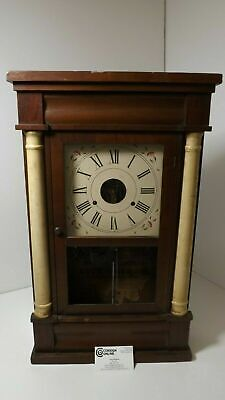 Seth Thomas Antique Wall Clock Wood Original -C123
