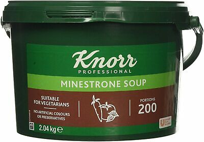UK PREPPER: KNORR PROFESSIONAL MINESTRONE Soup 200 Portion Easy Storage Rations