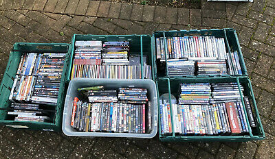 DVD Wholesale Bundle Joblot Carboot Market Mixed 5 Crates Boxes Full Some Cds