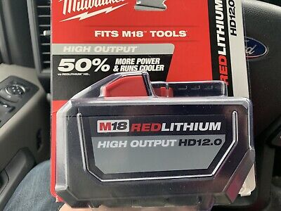 Milwaukee 48-11-1812 M18 RED LITHIUM High Output HD12.0 Battery Pack - NEW ^