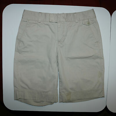 Dockers Khaki Shorts - Cream - Womens Size 8 - Stained - Waist 30 - Length 19