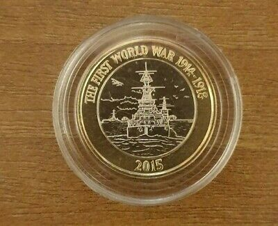 2015 TWO (£2) POUND COINS - HMS BELFAST - 4th Portrait (BU) - ONLY 39,000 MINTED