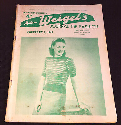 MADAME WEIGEL'S JOURNAL OF FASHION 1948 - 36 pages