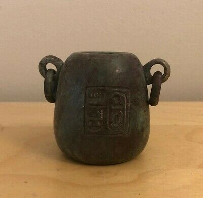 Egyptian Hard Stone Cosmetic Vessel With Hieroglyphic Writing Cartouche