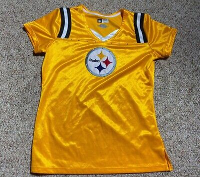 Too Cute Pittsburgh Steelers Girls Hooded Crop Over Tee Size 8//10 /_/_/_S119