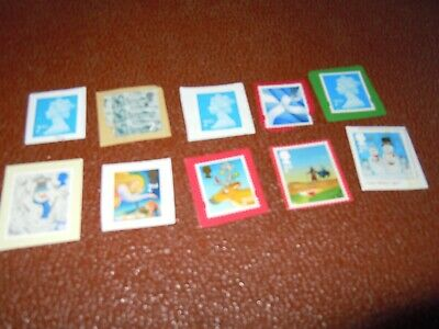 Unfranked Second Class Postage Stamps x 10