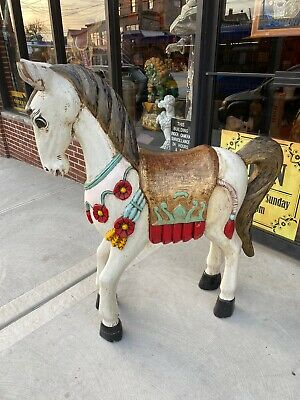 Wood Carved Horse Large Carousel Children's Room Staten Island pick up