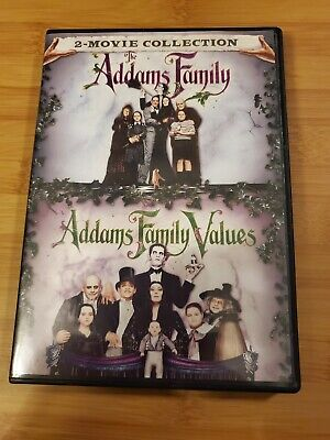 The Addams Family/Addams Family Values (DVD, 2017, 2-Disc Set)