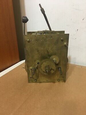 Antique 8 Day Grandfather Clock Movement Parts Possibly American