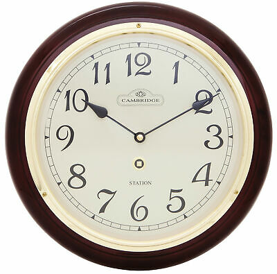 NEW 31.5cm Piano Paint Station Clock - Cambridge,Clocks