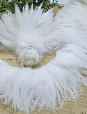 50pcs White Fluffy Rooster Feathers 15-18cm DIY  Craft Millinery Dream Catcher