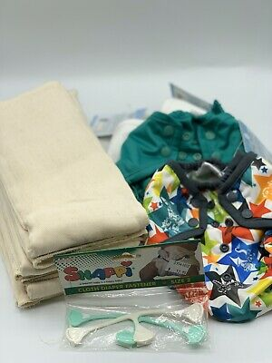 Rumparooz One Size Covers LOT New With Prefolds Size 2