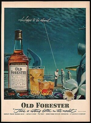 1951 OLD FORESTER WHISKEY Vintage Look REPLICA METAL SIGN  JOHN HOWARD Clock Art