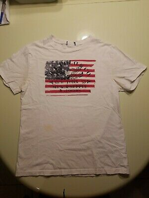 Polo Ralph Lauren Boys USA Flag New York NY MFG & Supply 5P T-Shirt Boys MEDIUM