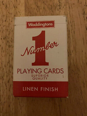 Waddingtons 007290 No.1 Classic Playing Cards - Red