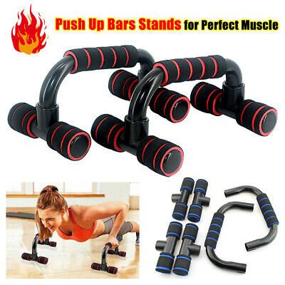 1 Pair Foam Handles Push Up Bars Stand for Chest Press Pull Gym Fitness