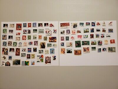 100 Different Used Canadian Stamps - All Off Paper - Lot 1
