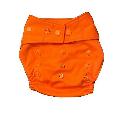 EUC Grovia Cloth Diaper Cover - Persimmon