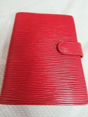 Louis Vuitton Small Red Planner Agenda Notebook Authentic With Pages Unused
