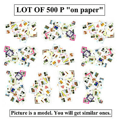 Lot 500 P stamps on paper 460$ FV face value MNG Canada Uncancelled Mint No Gum