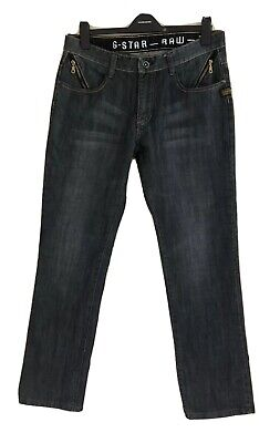 Mens G-STAR RAW 3301 Faded Black Jeans. Size 36. GUC
