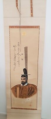 Japanese antique wall hanging Scroll Emperor Meiji