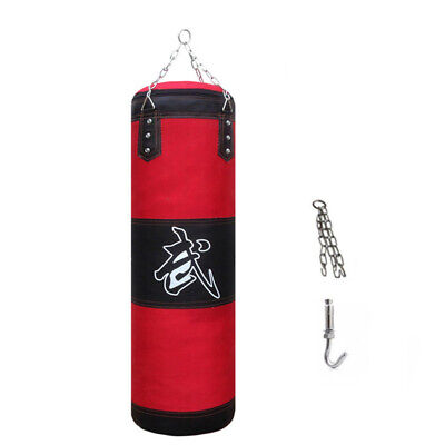 Hanging Filled Heavy Boxing Punch Bag MMA Training Kit Set W/ Chain Hook Tool