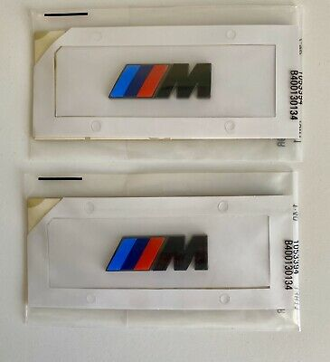 2x For BMW M Sport Emblem Gloss Black Sticker Side Wing Fender M Power Badge UK